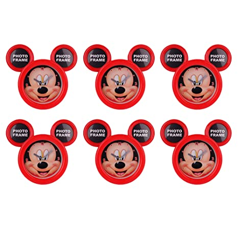 Asera 6 Pcs Mickey Mouse Table Clock Cum Photo Frame For Birthday Return Gifts