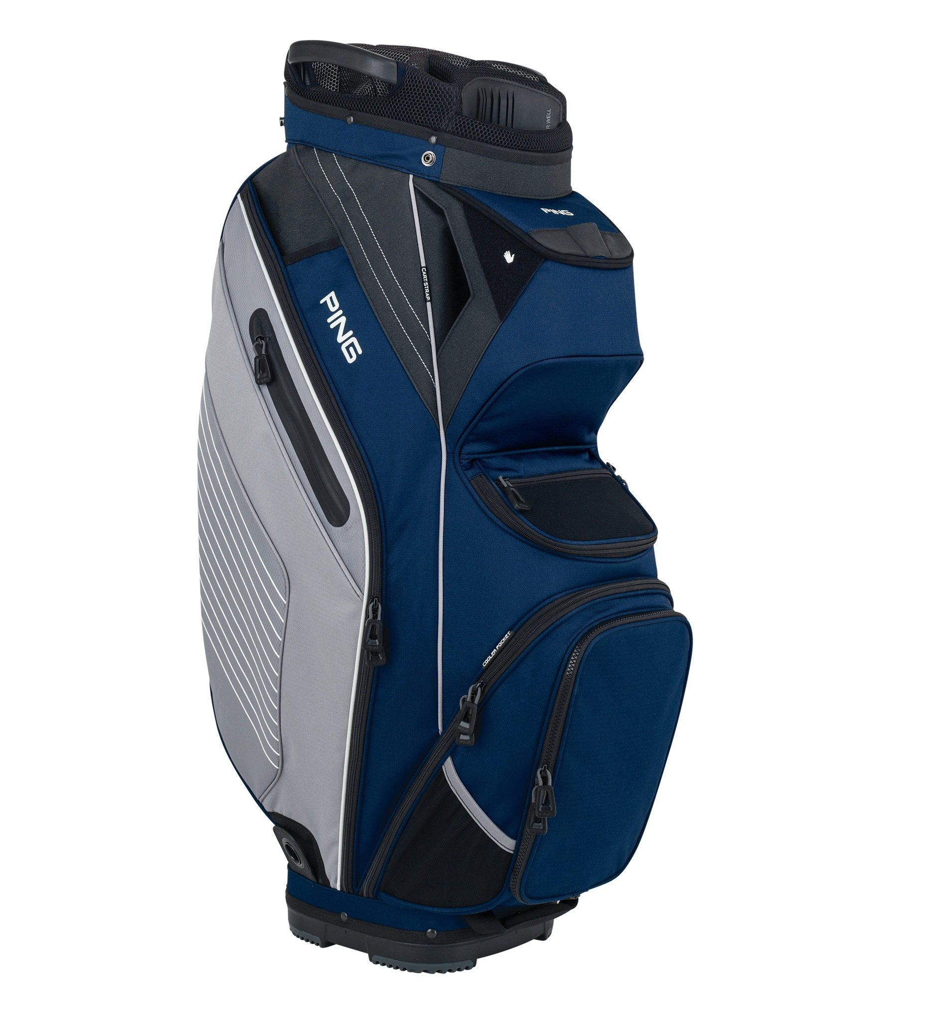 Ping Pioneer Cart Bag 2018 - 08 NAVY/SILVER