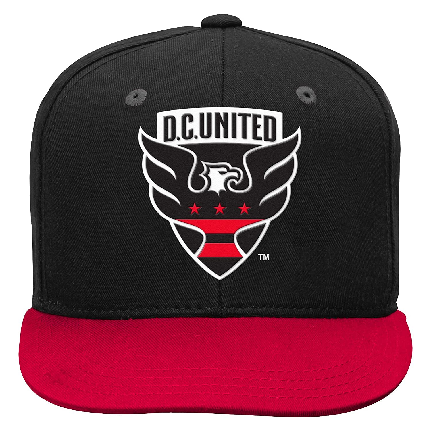 MLS D.C Youth One Size United 4-7 Outerstuff Flat Visor Snapback Team Color