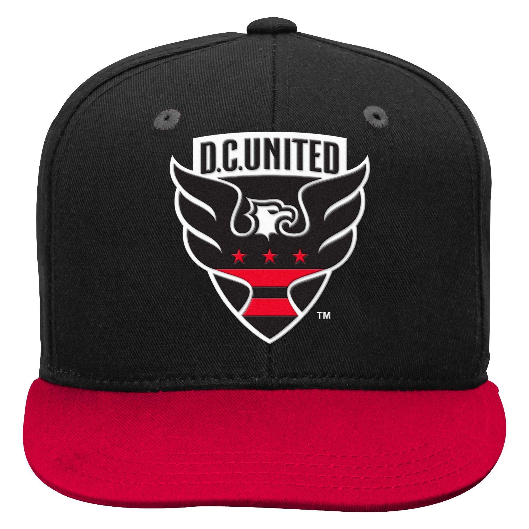 Outerstuff MLS D.C. United Boys Flat Visor Snapback, Black, One Size