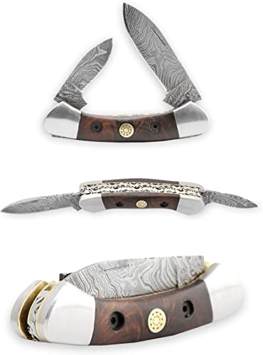 Perkin – Damascus Steel Pocket Knife – Two Blades