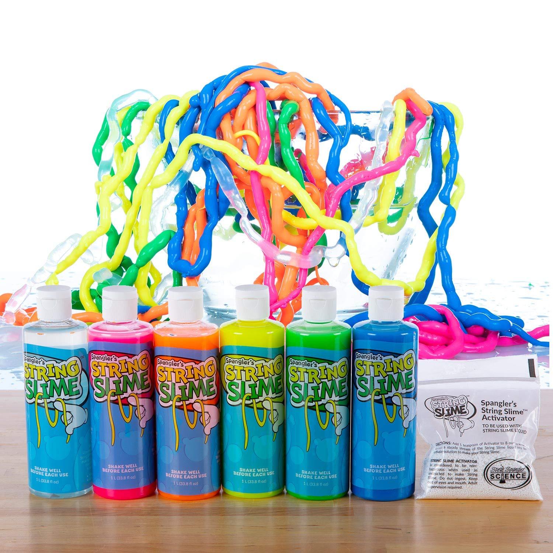Steve Spanglers Rainbow String Slime 6 8oz bottles of Slime DIY Slime Kit