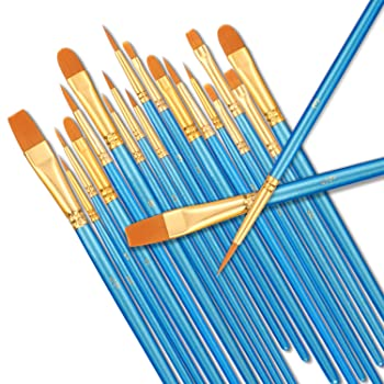 StarVast Professional Acrylic Paint Brushes Set