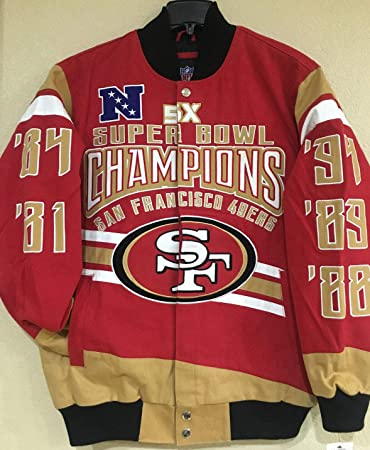 wholesale dealer c68a3 8956e Amazon.com : San Francisco 49ers Gladiator 5X Championship ...