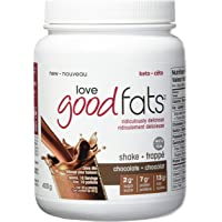 LOVE GOOD FATS Shakes, Chocolate Flavor, 400 Grams