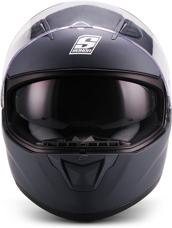 53-54cm Soxon ST-1000 Casque int/égral pour moto int/égral avec fermeture rapide XS Multicolore//Navy