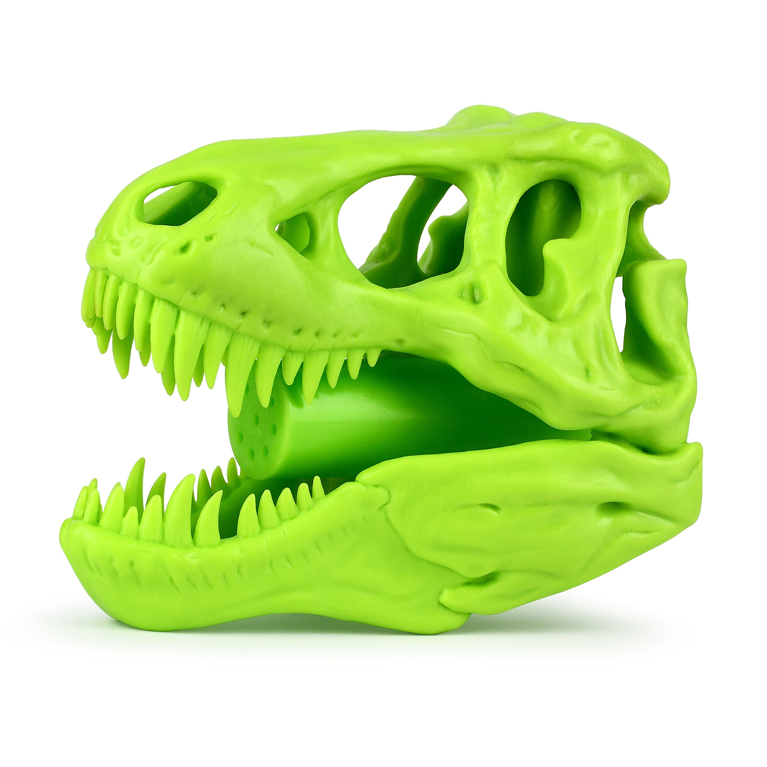 Barbuzzo T-Rex Shower Head, Green - Prehistoric Shower Nozzle Shaped like a Tyrannosaurus Rex Skull - Gives Your Shower-Time a Jurassic Touch - Terrific Gift for Kids & Dino-Enthusiasts - Wash N' Roar by Barbuzzo (Image #3)