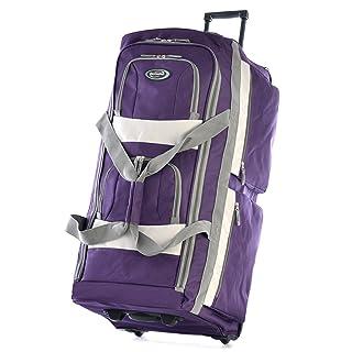 Olympia 8 Pocket Rolling Duffel Bag, Dark Lavender