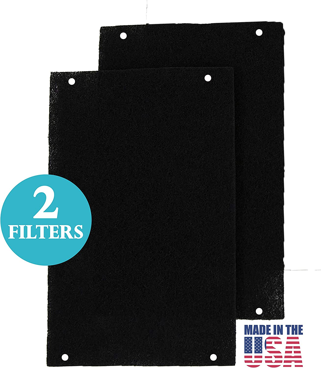 Replacement Filter 2pk for Whirlpool Low Profile Microwave & Hood Vent Combination Grease Dust Smoke and Kitchen Odors