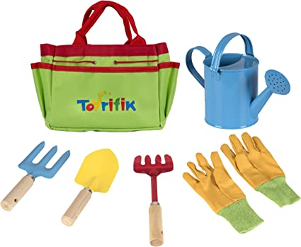Amazon Com Little Gardener Tool Set With Garden Tools Bag For