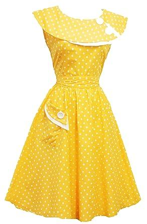 Kleid gelb gepunktet