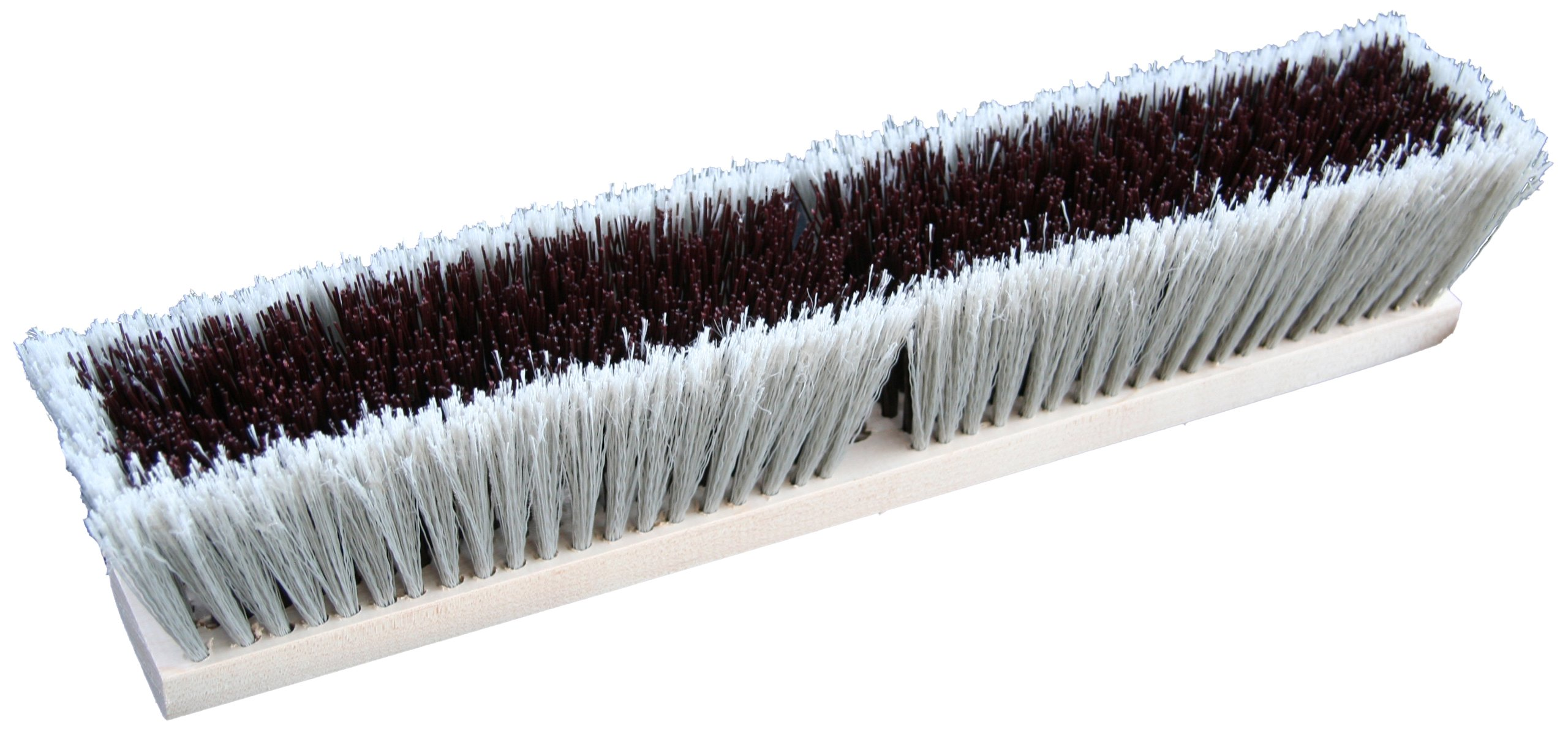 Zephyr 39524 Combo/Strand Push Broom, 24'' Head Width, Red and Grey (Case of 12)