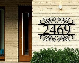 Custom Metal Address Sign, Metal House Numbers, Metal Address Plaque, Metal Address Sign, Front Porch Decor, Porch Signs, Metal Signs Custom Sign Housewarming Wall Art Decor Ornament