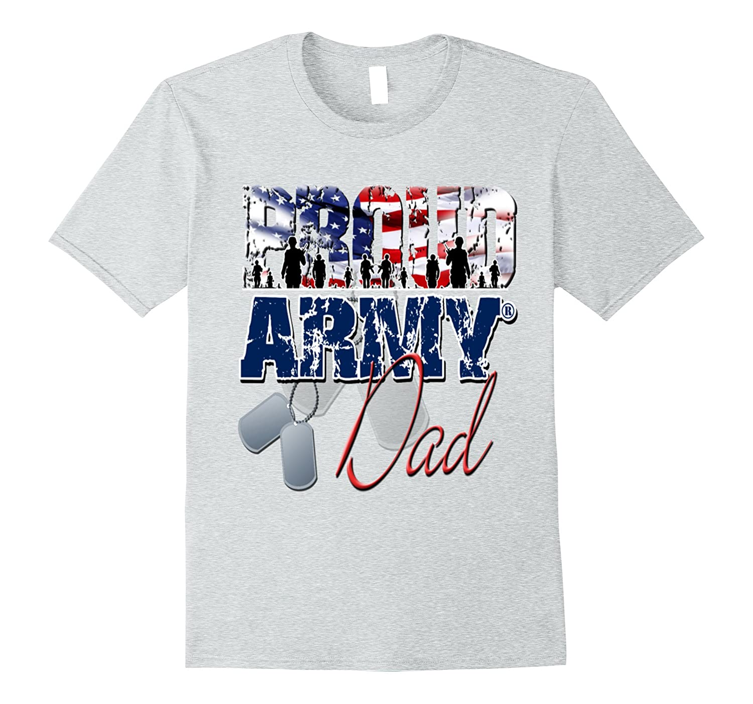 4th of july- proud army dad t shirt-PL