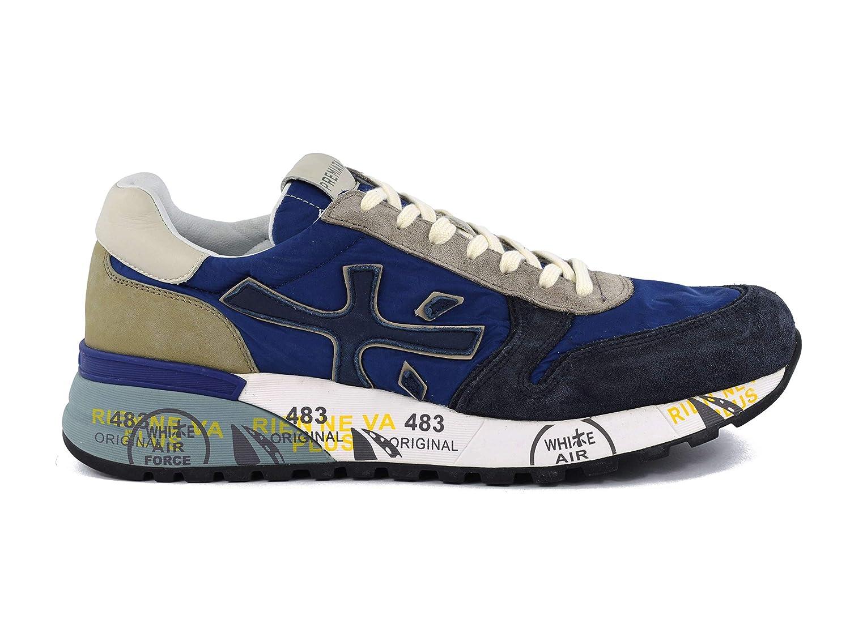 - Premiata Men's MICK3750 bluee Leather Sneakers