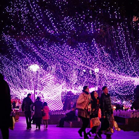 LED Net Mesh Fairy String Lights New Years Party Indoor Outdoor Home Decoration