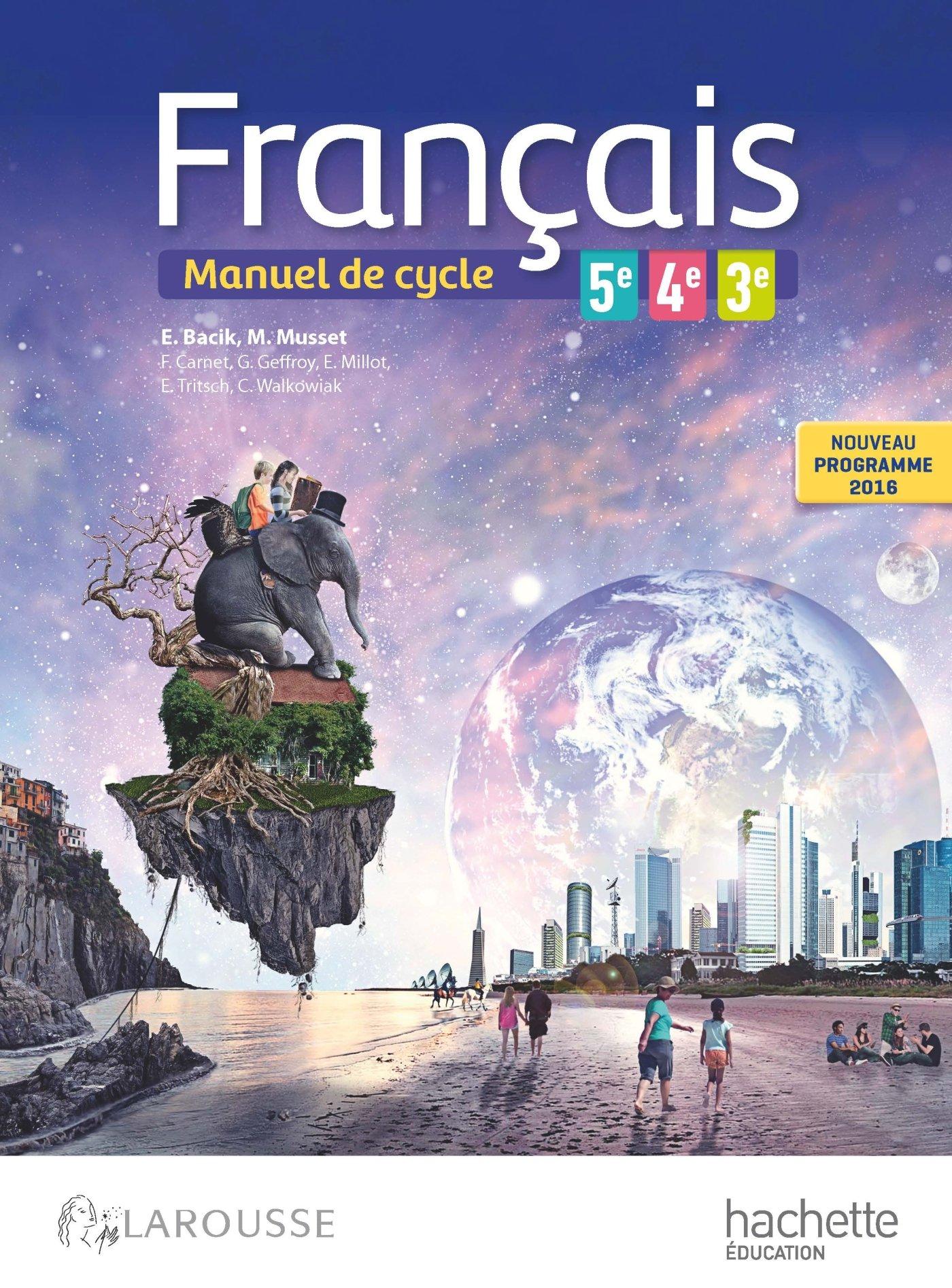 Amazon Fr Francais 5e 4e 3e Cycle 4 Nouveau