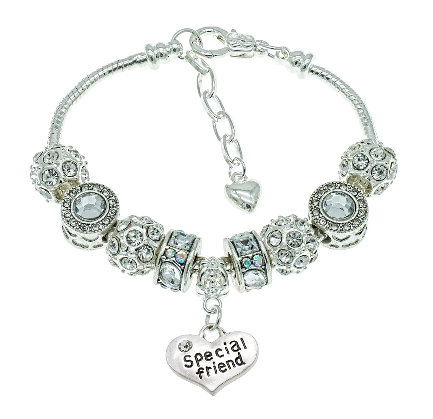 Jewellery Hut Just For You Womens Sparkly Birthday Bracelet With Gift Box And Card