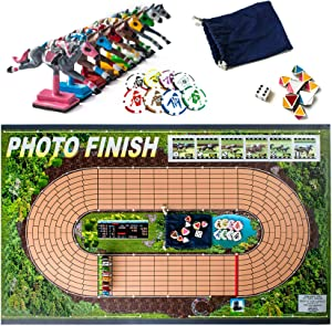Photo Finish Horse Track Racing Board Game | New Fun Parlor Party Game | Original, Hand Made Edition