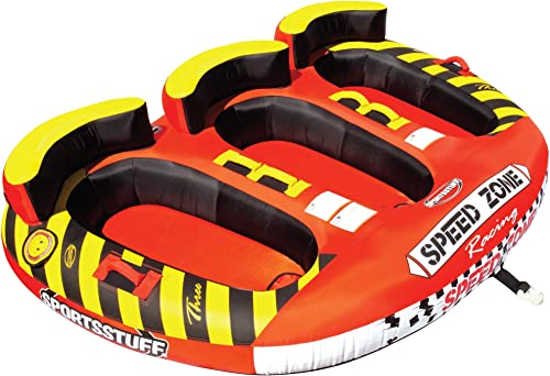 SportsStuff Speedzone 3 1-3 Rider Towable Tube for Boating