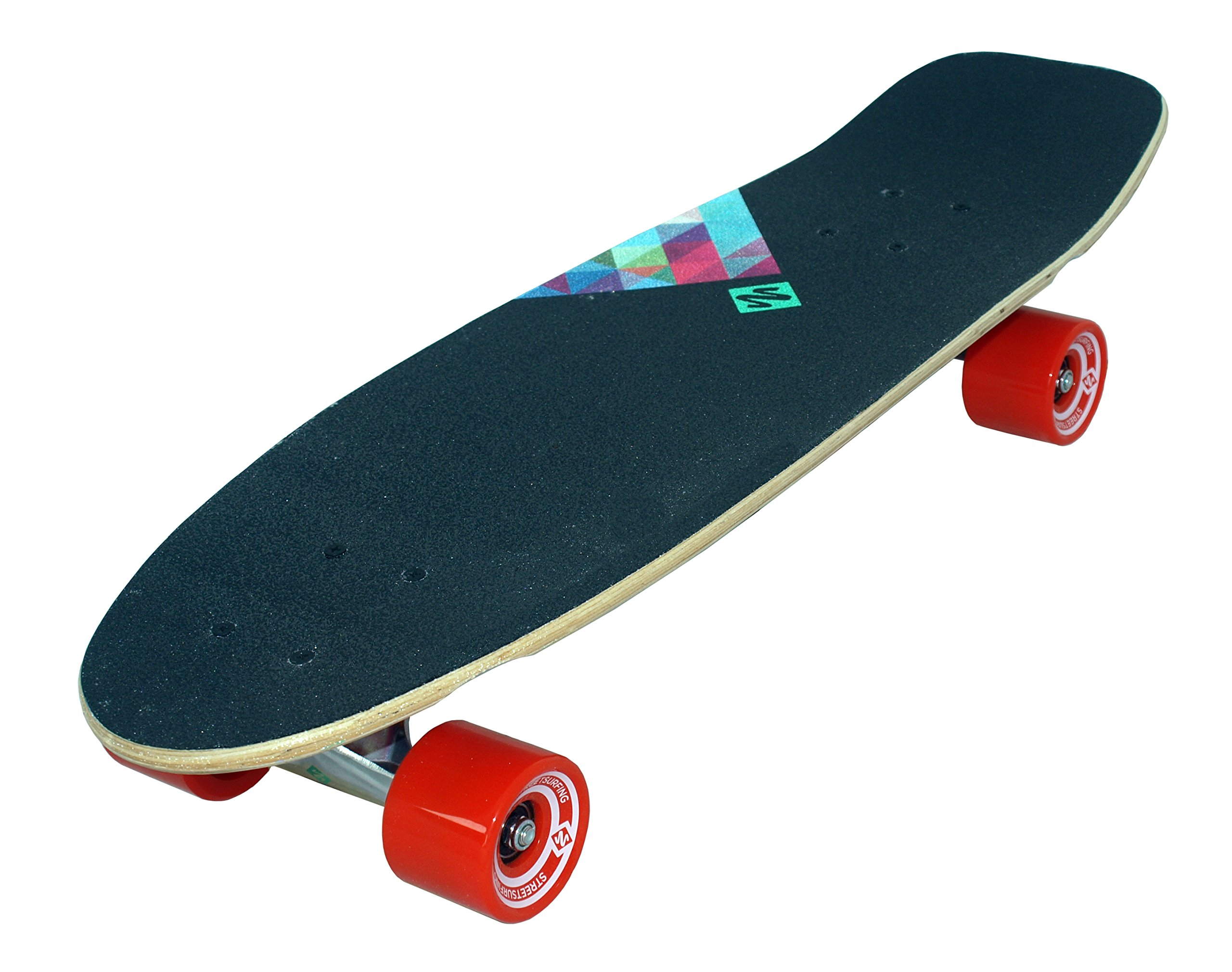 Streetsurfing 500280 ''Cruiser Kicktail - Rocky Mountain Skateboard (28-Inch) by Street Surfing