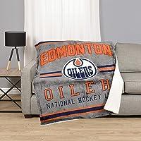 NHL 53542-FLE-125A-EDMN Edmonton Oilers Superluxe Sherpa Throw