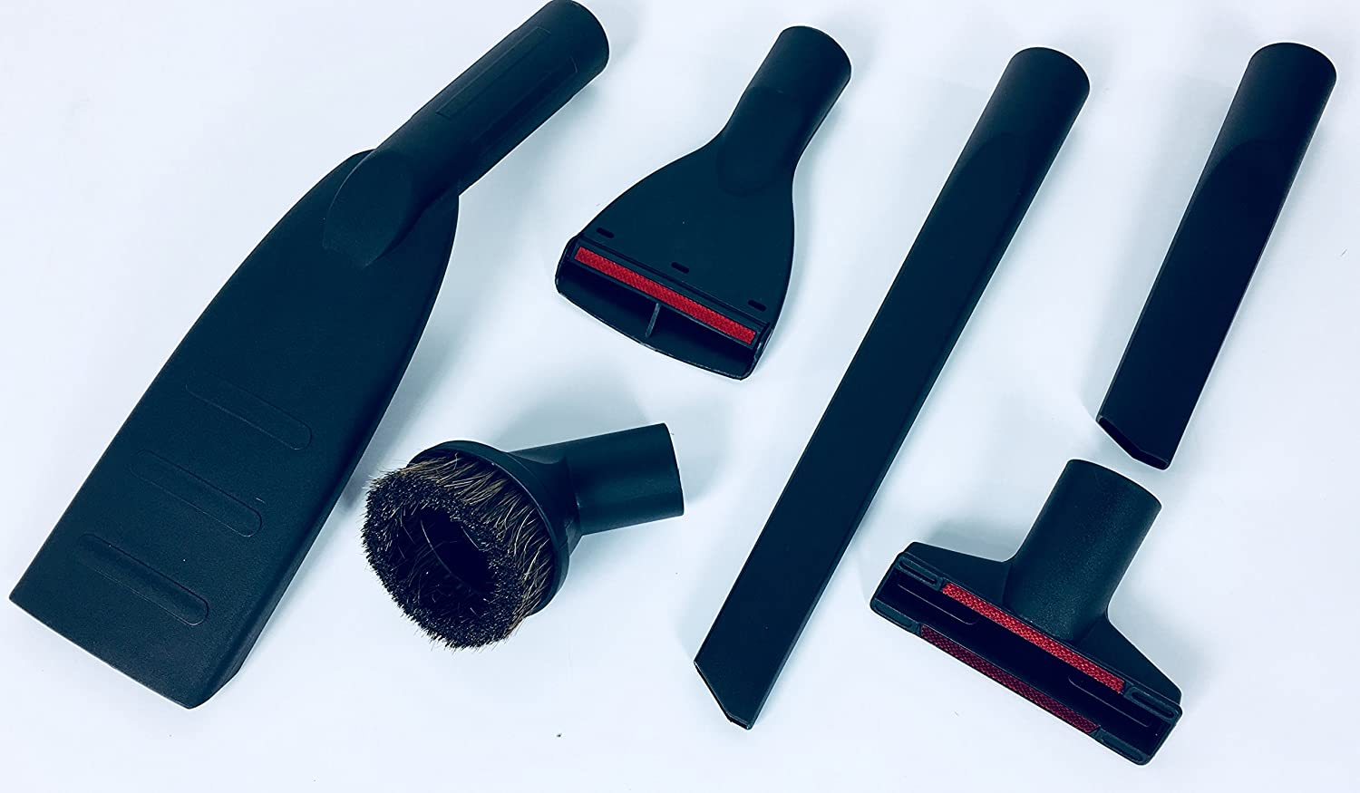 6 Piece Set of Professional Car Vacuum Cleaner Nozzles and Brushes, Crevice Tool, 35 mm, Upholstery Tool, Short Brush Set, XXL, Rug Nozzle, Dusting Brush, Suitable for Kärcher Wet and Dry Vacuum Cleaners, See Model List detailmate