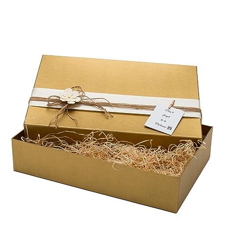 Giftismo Caja de regalo decorativa hecha a mano para Navidades, cumpleaños, bodas o regalos