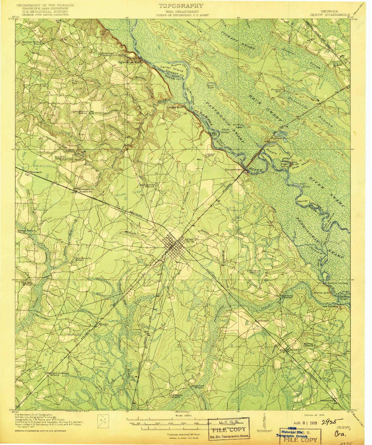 Map Of Jesup Georgia.Amazon Com Yellowmaps Jesup Ga Topo Map 1 62500 Scale 15 X 15