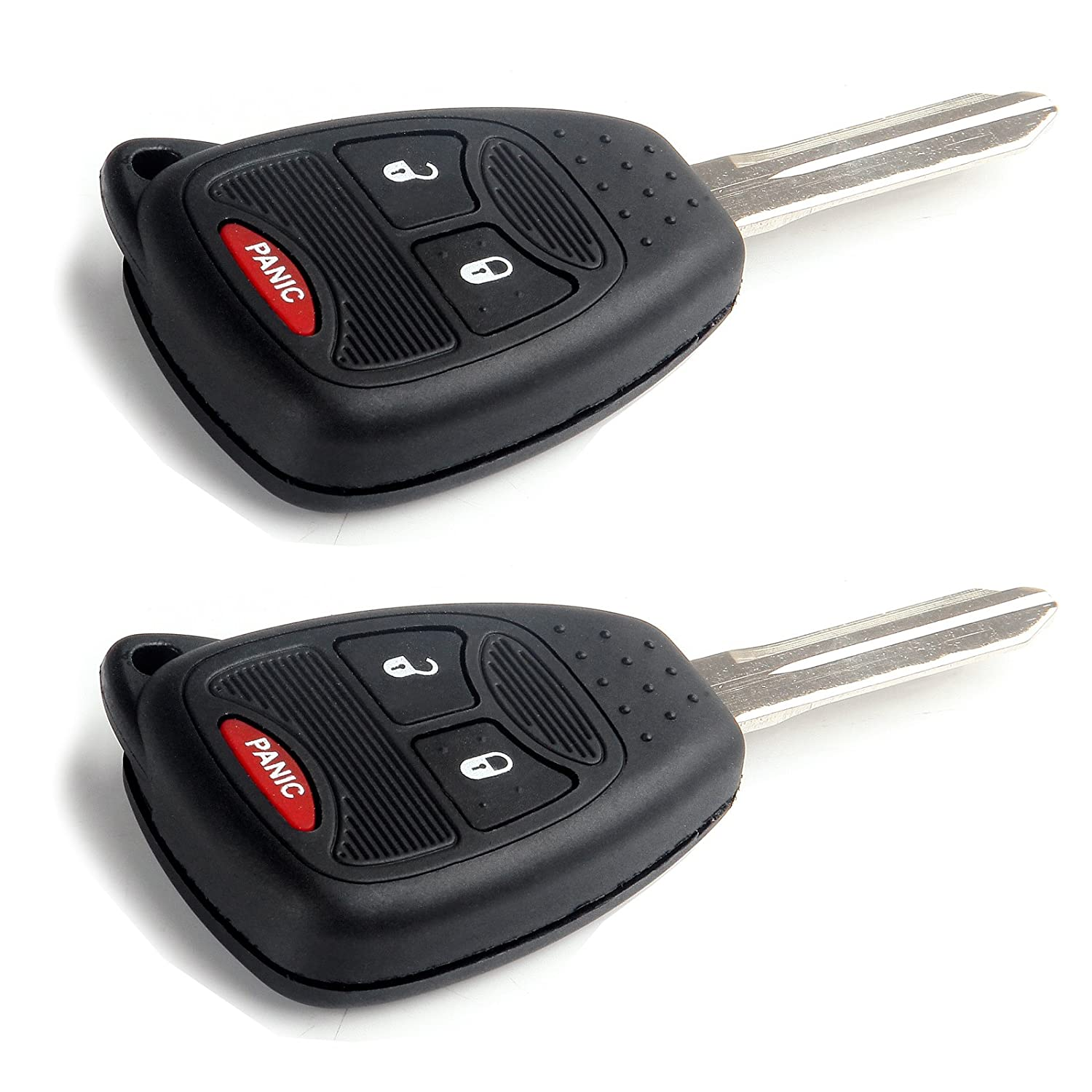 Keyless2Go Keyless Entry Remote Car Key Replacement for Vehicles That Use 4 Button OHT692713AA 2 Pack