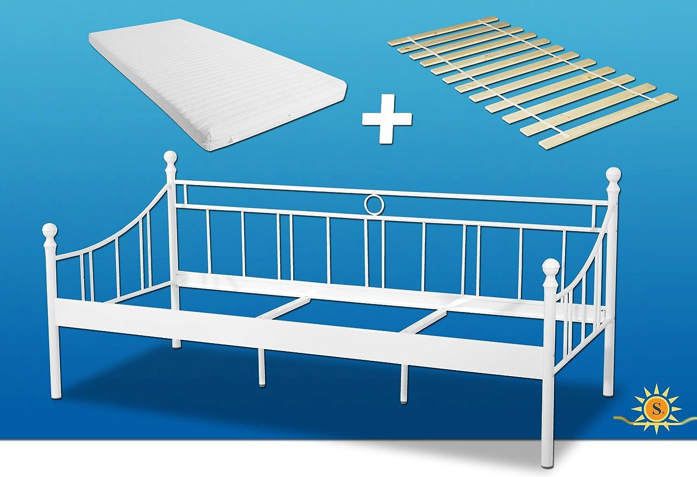 Bett inkl. Matratze und Rollrost 90x200cm. Klassisch zeitloses ...