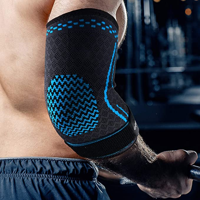 Elbow Brace Compression Support Sleeve Elastic Elbow Movement Protection S--XL