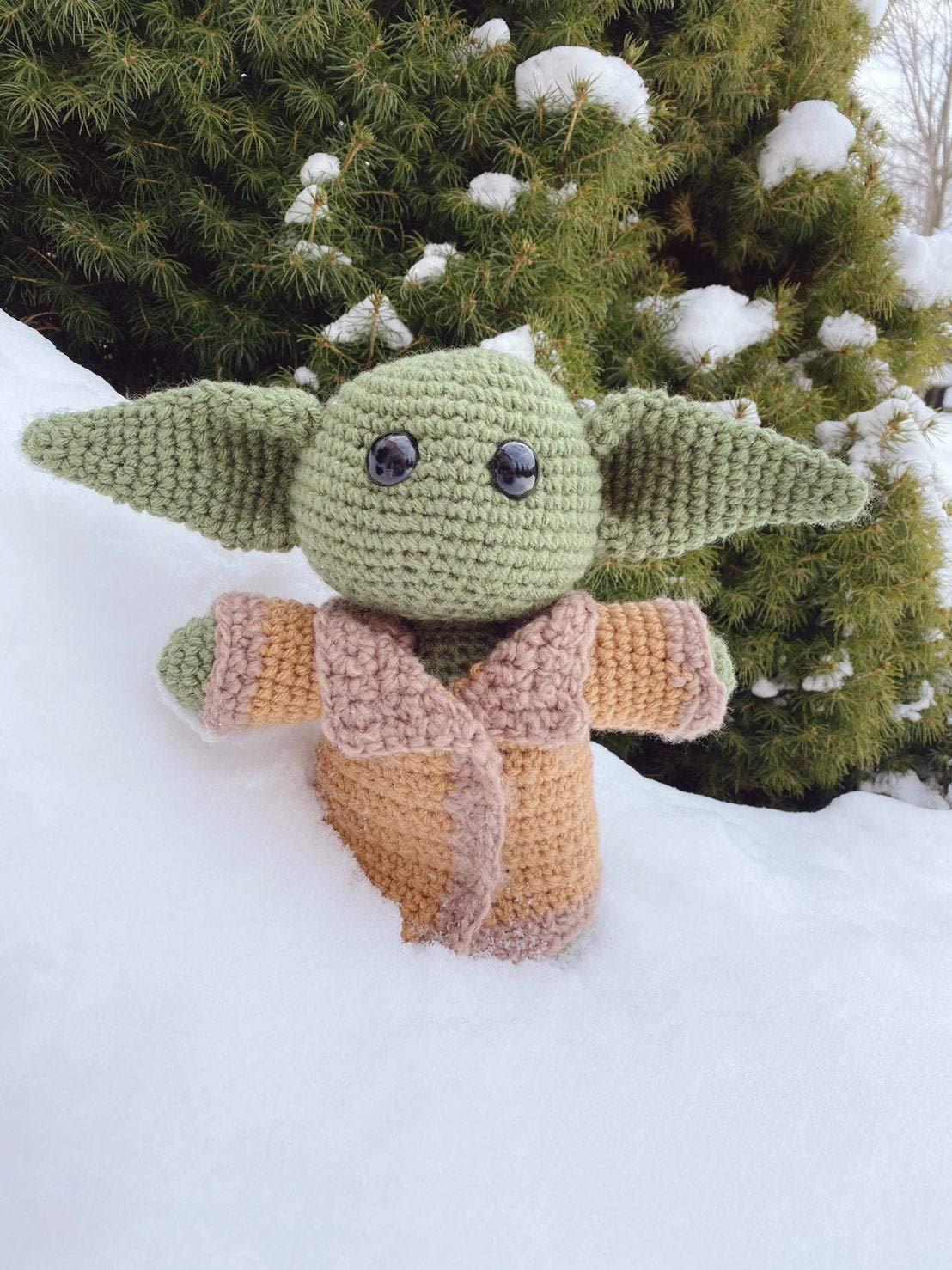Crochet Baby Yoda Amigurumi Pattern - #Amigurumi; Star War #Yoda ... | 1478x1108