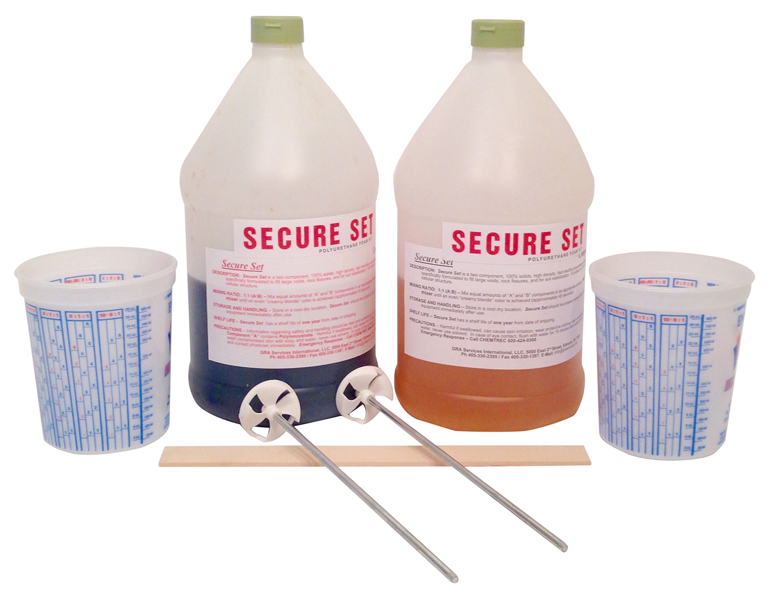 Secure Set - 5 Post Kit - Commercial Grade -1 Gallon. Fast, Secure & Safe Concrete Alternative for Easy Fence Post Installation.
