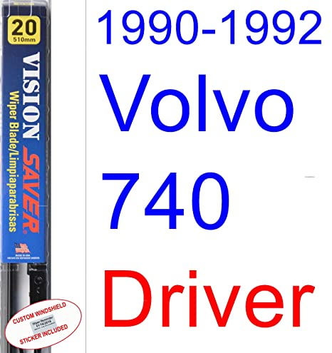 Amazon.com: 1990-1992 Volvo 740 Wiper Blade (Driver) (Saver Automotive Products-Vision Saver) (1991): Automotive