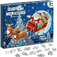 Omgouue Advent Calendar 2020 Christmas Countdown Calendar Decoration 24pcs Metal Wire Puzzle Toys Gift Box Set Brain…