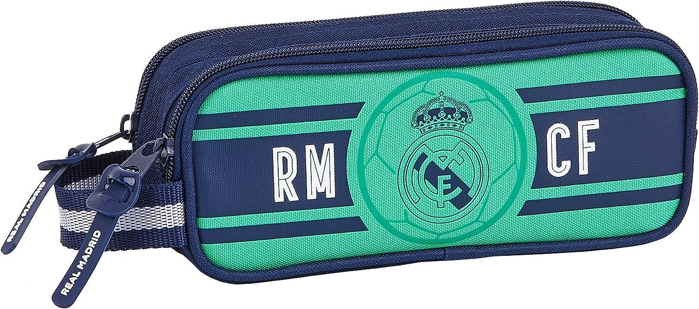 SAFTA 812057513 Estuche portatodo Doble 2 Cremalleras Escolar Real Madrid CF: Amazon.es: Equipaje