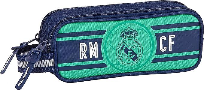 SAFTA 812057513 Estuche portatodo Doble 2 Cremalleras Escolar Real Madrid CF, Multicolor: Amazon.es: Equipaje
