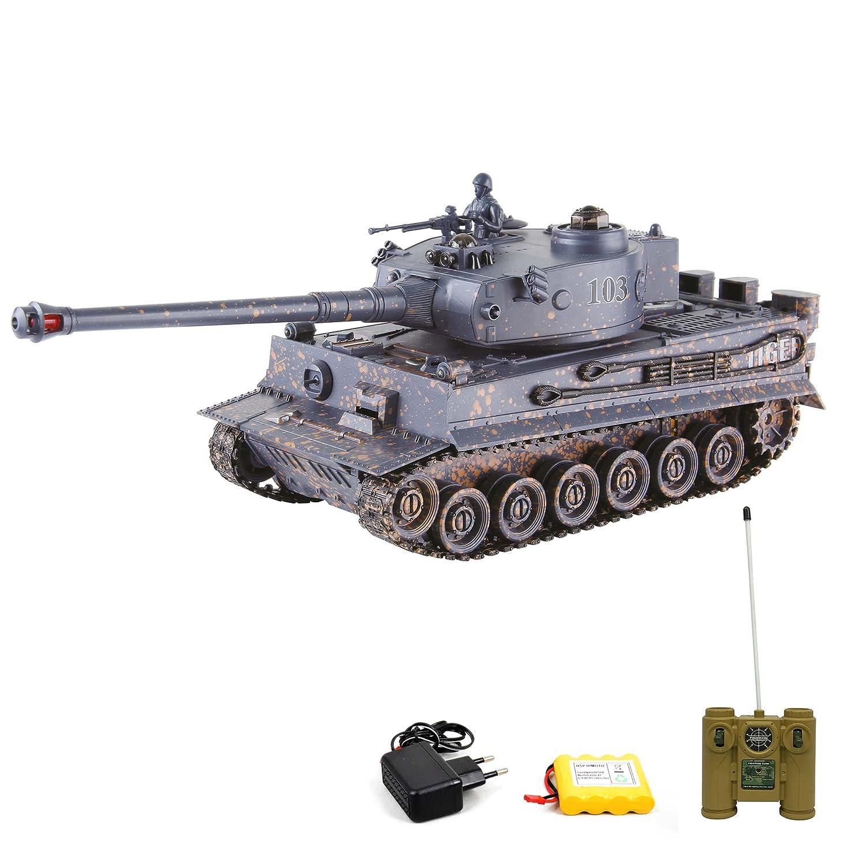 german tiger i rc ferngesteuerter panzer mit gefecht und. Black Bedroom Furniture Sets. Home Design Ideas
