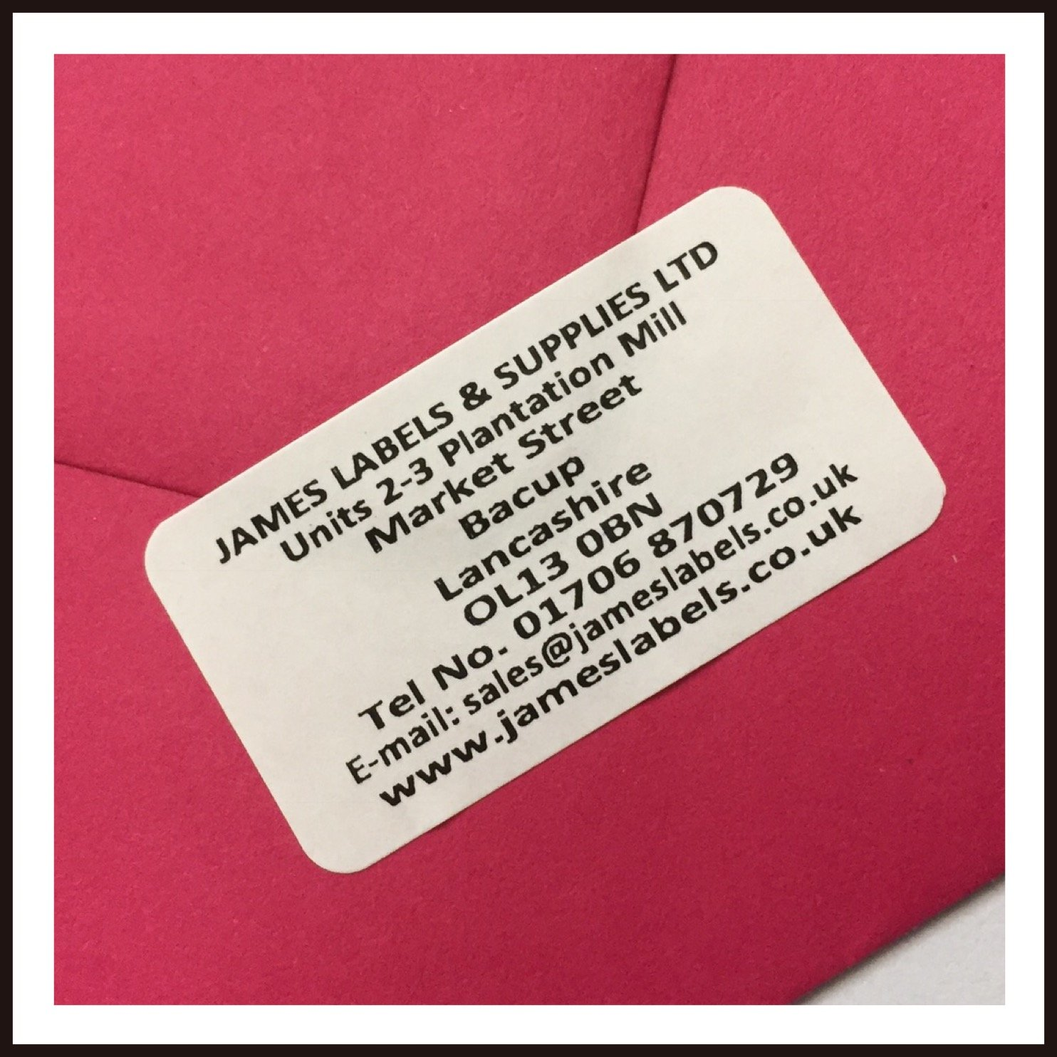 520 White Personalised Printed Mini Adhesive Address Labels 38mm x ...