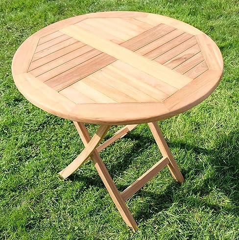 Delightful TEAK Klapptisch Holztisch Gartentisch Garten Tisch Rund 80cm COAMO Holz Von  AS S