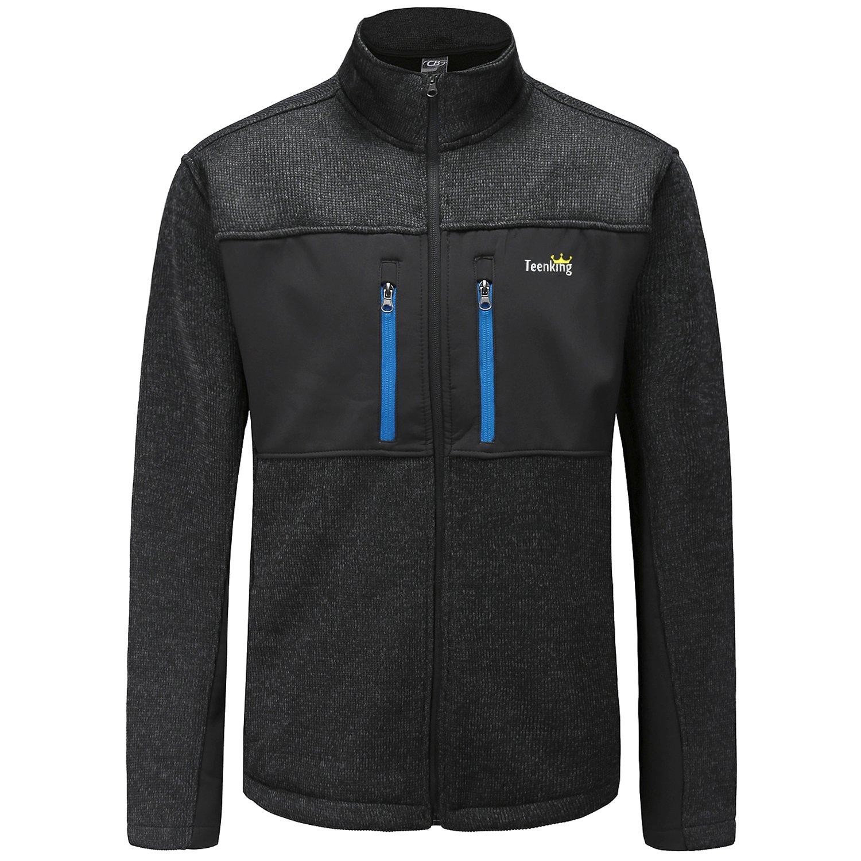 Teenking Men's Fleece Outdoor Jacket Medium