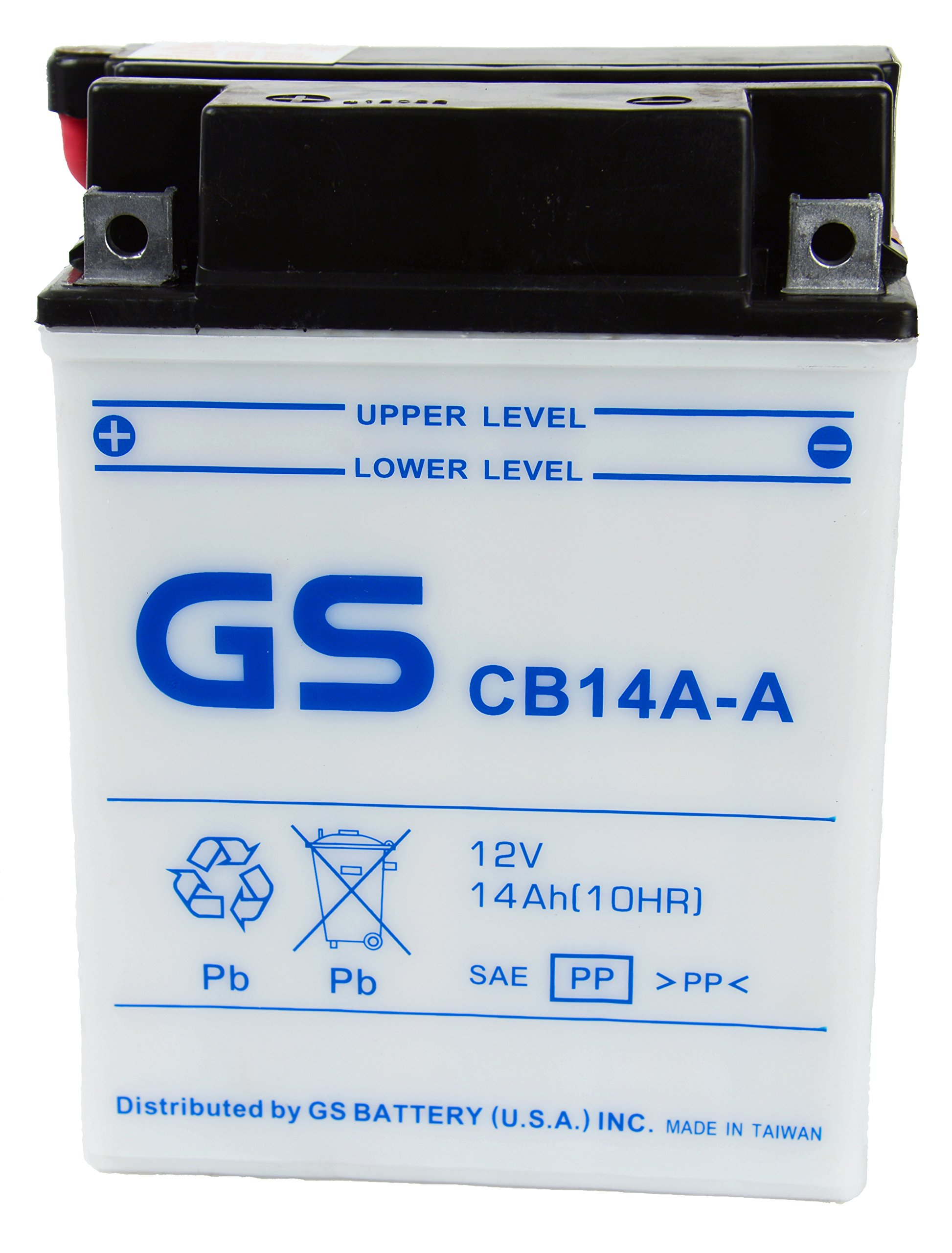 GS BATTERY - GS CB14AA with Acid Pack – High Performance Powersports Battery for YUASA YB14A-A1 Replacement. Fits ATV applications