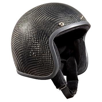 Bandit carbono - casco de moto casco Jet Retro Negro gris oscuro Talla:XL(