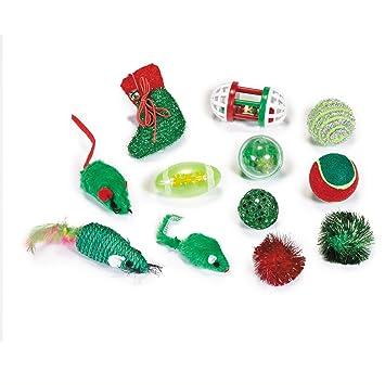 Zanies vacaciones gato medias con 12 gato juguetes: Amazon.es: Productos para mascotas