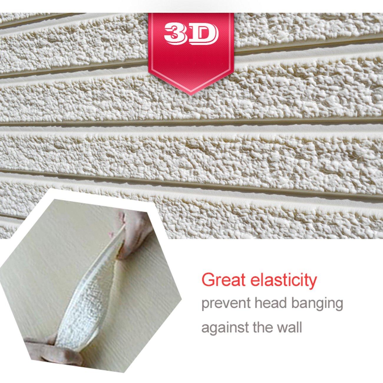 Nouveau Style 5 pi/èces Brique Gris 3D Papier-peint briques autocollant de mur de mousse de PE amovible et de b/âton de PE pour le bureau /à la maison de salon