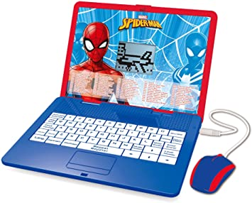 Amazon Es Lexibook Disney Marvel Spider Man Jc595spi1 Ordenador Educativo Bilingüe Con Pantalla Para Aprender 120 Actividades Matemáticas Música Lógica Juegos Francés Inglés Azul Rojo Jc595spi1