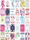 """bloom daily planners Belief Card Deck - Cute Inspirational Quote Cards - Just Because Cards - Set of THIRTY 2"""" x 3.5"""" Cards - Assorted Designs"""