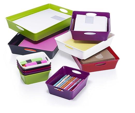 Rotho 1124100000 - Caja de almacenaje, plástico, DIN A4, color blanco: Amazon.es: Hogar