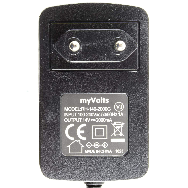 MyVolts Cargador 14V Compatible con Transformador Black and ...